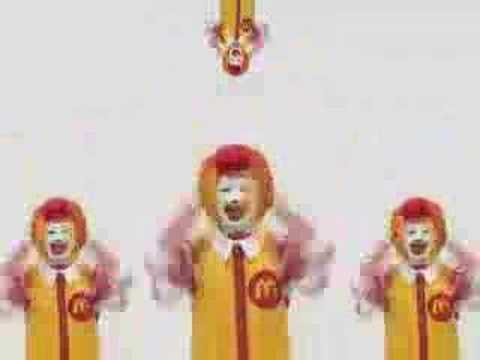 麥當勞叔叔打算洗腦全世界的人,看過後保證愛上!