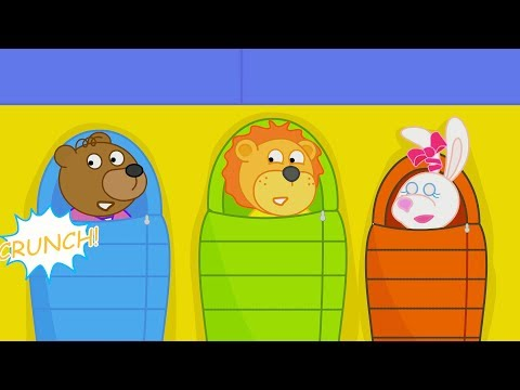 Lion Family Camping Trip Cartoon for Kids