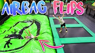 FLIPPING ONTO HUGE AIRBAG AT TRAMPOLINE PARK!Make sure to subscribe for more awesome videos!Doing insane double flips onto a huge airbag at a new trampoline park! We also conquered the ninja course and did some trampoline basketball tricks!SUBSCRIBE to Nick (Abdu): https://www.youtube.com/user/NickOwlmanMy Social MediaInstagram: https://www.instagram.com/nicktweston/Twitter: https://twitter.com/nicktwestonSnapChat: nicktwestonNick Weston