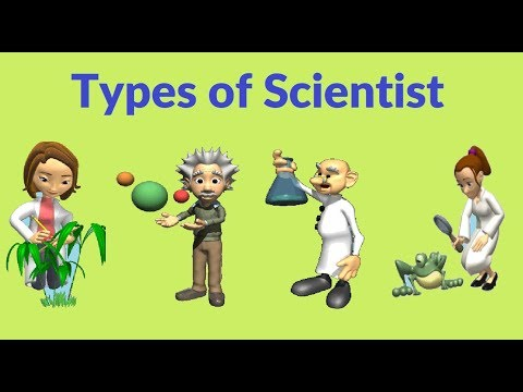 Kids learning about different types of Scientist !