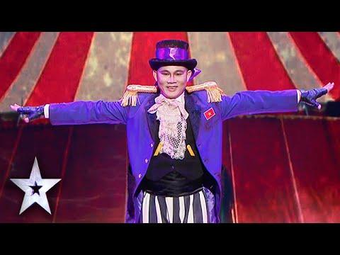 [Asia's Got Talent 2015] Anh Bảo Cường VN biểu diễn xiếc kinh dị, nữ ban giám khảo không dám nhìn