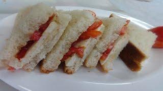 Cheese Tomato Sandwich Recipe - Teatime Snack - How To Make Cheese Tomato Sandwich Recipe