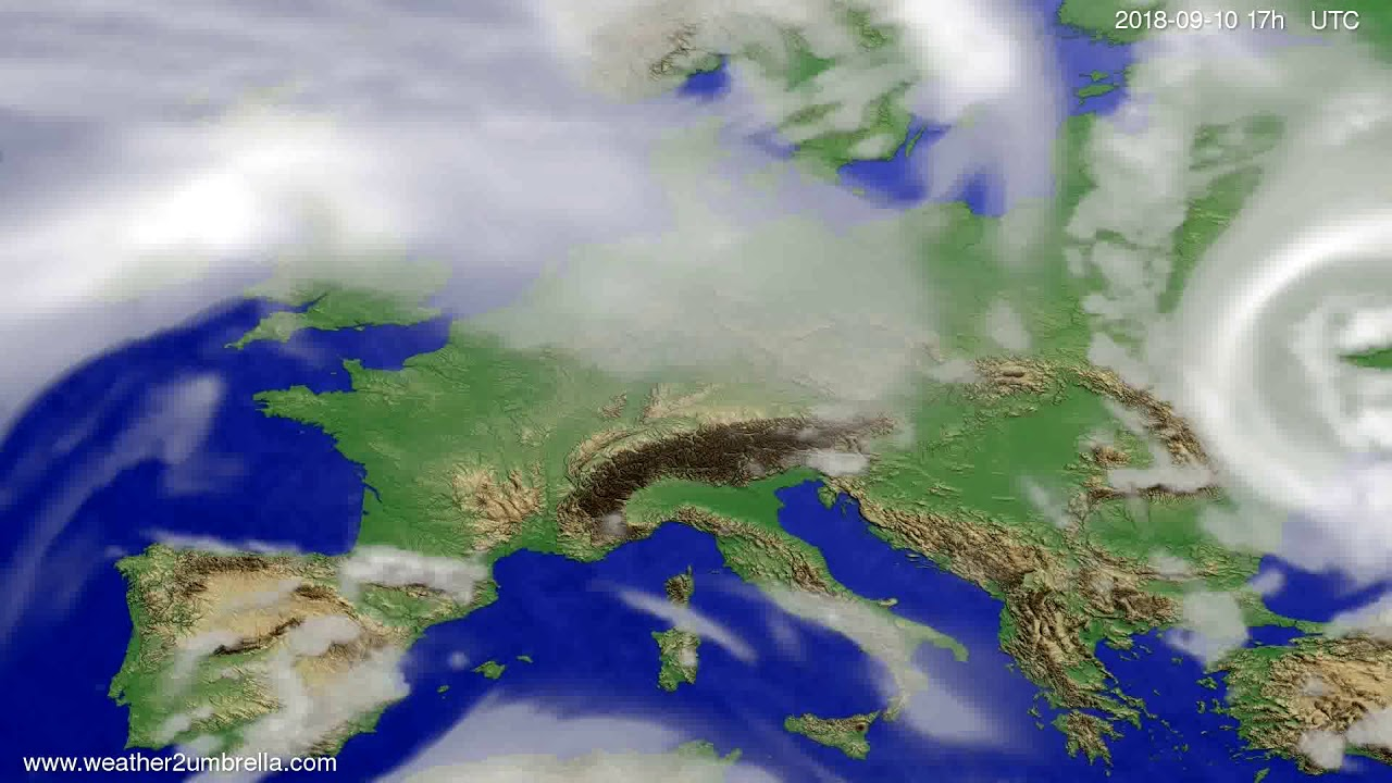 Cloud forecast Europe 2018-09-08