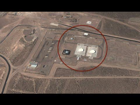 la segretissima area51 vista dall'alto con immagini satellitari