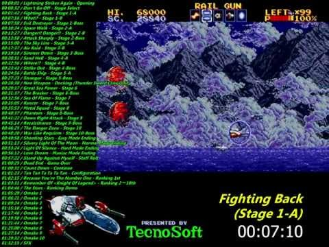 test thunder force 4 megadrive