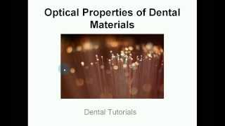 Optical Properties Of Dental Materials - Metamerism - Munsell Colour System - Shade Taking