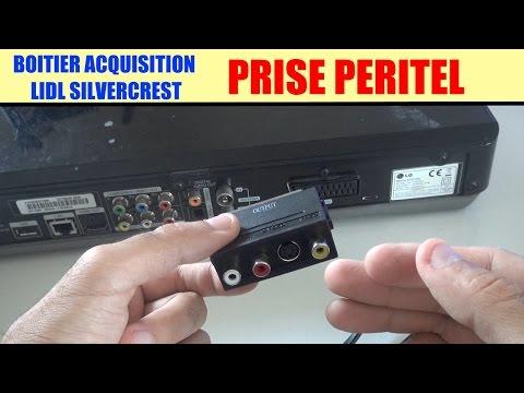 boitier acquisition video silvercrest lidl : le branchement prise péritel