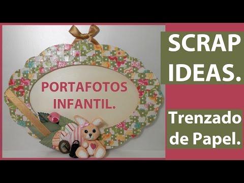 PORTAFOTOS O MARCO INFANTIL, ESTILO CAMPESTRE. PAPEL DE SCRAPBOOKING ...