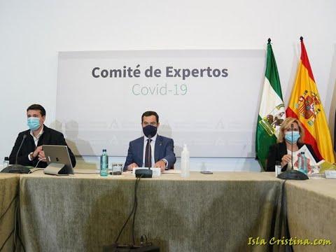 Juanma Moreno, Presidente de la Junta de Andalucía, anuncia nuevas medidas para combatir el Covid19.