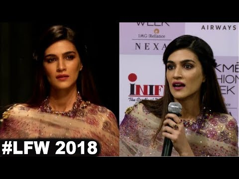 Kriti Sanon Showstopper For Designer Tarun Tahiliani At Lakmé Fashion Week 2018
