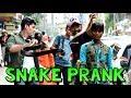 Fake Snake Prank on People   Scary Snake Pranks   Prank in India