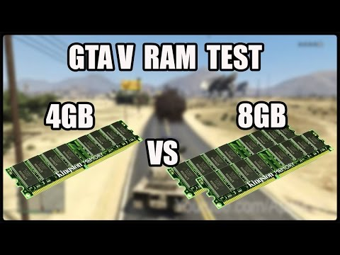 Gta V RAM Test 4gb DDR3 1333mhz vs 8gb DDR3 1333mhz