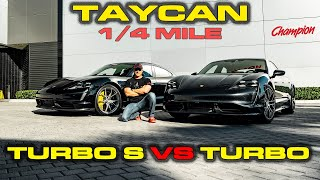 CHARGE MATTERS * Porsche Taycan Turbo S vs Turbo Performance Testing 0-60, 1/4 mile, 60-130 by DragTimes