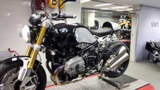 8. BMW R NineT titanium Akrapovic exhaust system *sound*