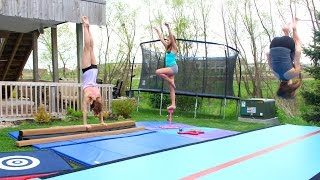 Home Gymnastics Equipment and Tumbling!