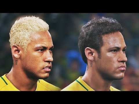 PES 2018 (PC) vs PES 2017 (PS4) Brasil Face Comparison HD 60FPS