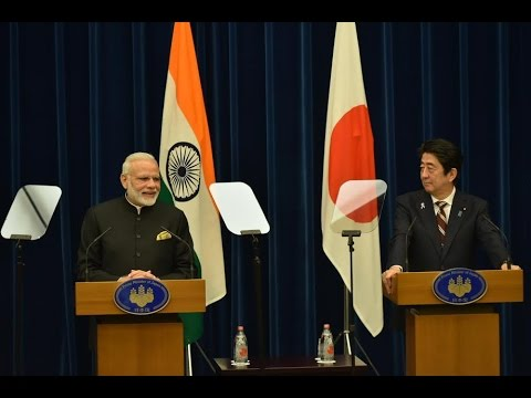 PM Modi's Speech at Exchange ofAgreements & Joint Press Statement with PM Abe in Tokya, Japan