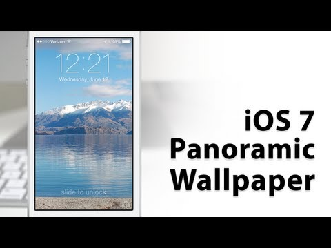 Hands-On IOS 7 Panoramic Wallpapers - This Feature Was Removed