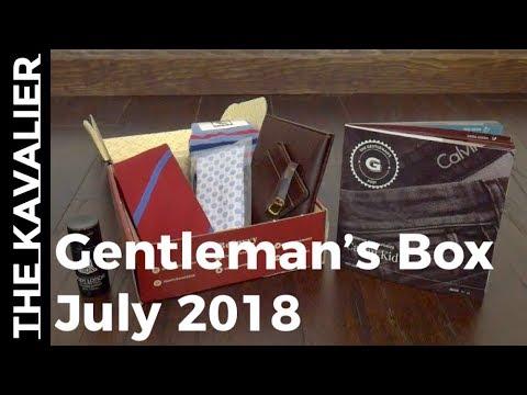 Gentleman's Box July 2018 Unboxing видео