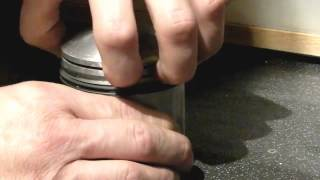 8. Piston Ring fitting, How to, Royal Enfield 350 Bullet Classic