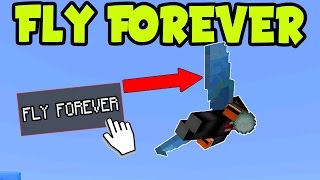 "Minecraft Pocket Edition "" FLY WINGS FOREVER! "" PE // MCPE INFINITE WING FLYING (MCPE Elytra Wings)"