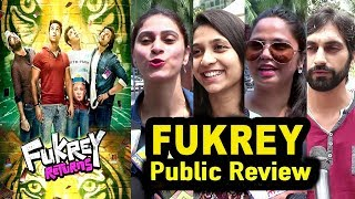 Fukrey Retruns Movie Public Review | First Day First Show Review |Pulkit,Varun,Richa|Fukrey 2 Review