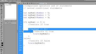 Flash CS6 Actionscript for Beginners - if-else statements&nested conditions