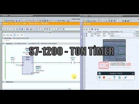 S7 1200 Komut İncelemeleri TON Timer Görsel Eğitim