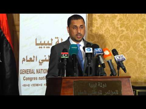مؤتمر صحفي لرئيس فريق الحوار المكلف من المؤتمر الوطني العام