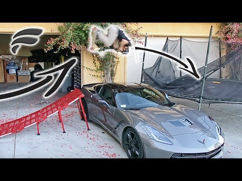 FLIPPING OVER $70,000 CAR TO TRAMPOLINE! (видео)