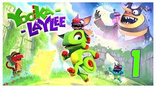 Welcome to my first video for the awesome game Yooka-Laylee today we are going to find out what this game is all about maybe find our first pagie. Subscribe here for more Gaming Videos: http://goo.gl/JnMm2v.Don't forgot to click that notifications bell so you know when my next video is live  I Stream so come join The Barking Mad Society: https://mixer.com/krlbarkerhttps://twitch.tv/krlbarker Fancy spying on what I'm doing lately join my Twitter: https://twitter.com/KrlBarkerWant to stalk me on Xbox One well here's my GT: KrlBarkerJoin my Club on Xbox One and have a Chat: Search KrlBarkerIntro Creator: Dopemotionshttps://www.youtube.com/channel/UCgvrz9ioKv89HMyg42z4pyQEdited By: KrlBarkerFor more templates, visit www.velosofy.com!Yooka-Laylee is an all-new open-world platformer from key creative talent behind the Banjo-Kazooie and Donkey Kong Country games!Explore huge, beautiful worlds, meet (and beat) an unforgettable cast of characters and horde a vault-load of shiny collectibles as buddy-duo Yooka (the green one) and Laylee (the wisecracking bat with the big nose) embark on an epic adventure to thwart corporate creep Capital B and his devious scheme to absorb all the world's books… and convert them into pure profit!Using their arsenal of special moves, our heroes will tackle a huge variety of puzzles and platforming challenges in their search for Pagies, the golden bounty used to unlock — and expand — stunning new worlds, each jammed to the gills with oddball characters, hulking bosses, minecart challenges, arcade games, quiz shows, multiplayer games… and much more!Yooka-Laylee was funded on Kickstarter in June 2015, raising an incredible £2.1 million from more than 80,000 backers. Yooka-Laylee remains the most funded UK games Kickstarter ever.