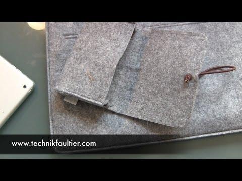 Inateck MacBook Filz Sleeve Tasche Unboxing und erster Eindruck