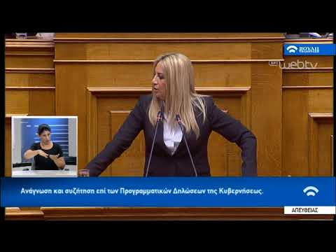Ομιλία Φ. Γεννηματά στη Συζήτηση για τις Προγραμματικές Δηλώσεις | 20/07/2019 | ΕΡΤ