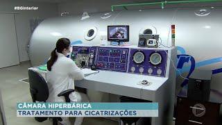 A câmara hiperbárica é um tratamento moderno que injeta oxigênio nas células