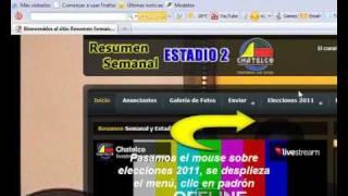padron electoral Elecciones 2011, Cómo Consultar El Padrón Electoral Via Web!!