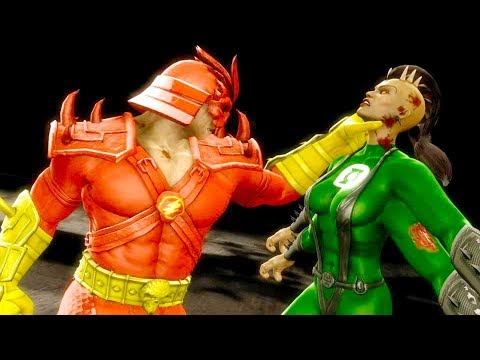 Mortal Kombat 9 - All Fatalities & X-Rays on Green Lantern Sheeva Costume Mod 4K Gameplay Mods