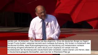 Martin Schulz LIVE in Trier https://youtu.be/CPnl5dLZZYo Antikrieg TV http://www.antikrieg.tv http://www.facebook.com/antikriegtv ...