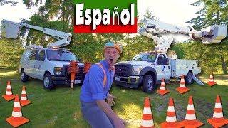 Blippi Español sube en un Camión de Cesta   Máquinas Educativas para Niños