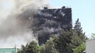 طلاء رخيص يتسبب فى احتراق مبنى من 15 طابق