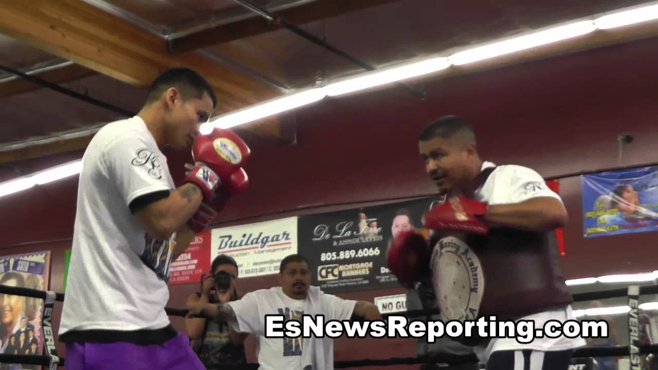 Mayweather vs Maidana Marcos in beats mode in the trainging – esnews