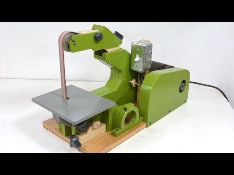 "The woodworking genius Matthias Wandel Builds a 42"" belt sander"