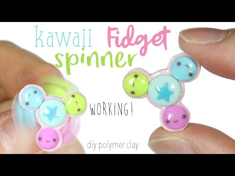 How To DIY Working Fidget Spinner No Bearings Polymer Clay Tutorial