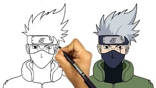 Video How to Draw kakashi from naruto anime series step by step for beginners MP3, 3GP, MP4, WEBM, AVI, FLV Desember 2018