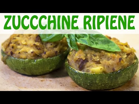 zucchine ripiene vegetariane - ricetta