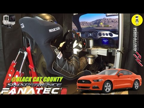 Assetto Corsa [Fanatec] - Ford Mustang 2015 @ Black Cat County [SimXPerience, GoPro]