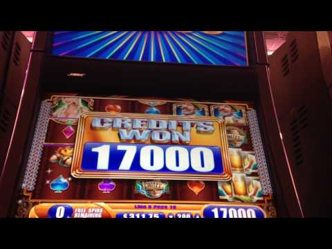 $50 Jackpot Handpay Huge Win Pinball Green Machine Beir Haus Slot