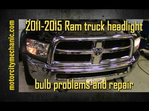 2011-2015 Ram truck headlight bulb problems and repair