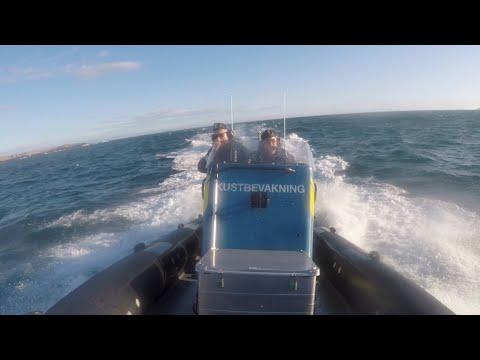 Visa film Två dygn med Kustbevakningen i Strömstad