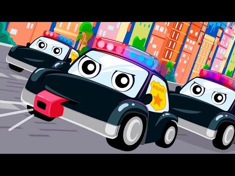 Мультики про полицейские машинки - Мультик песня!