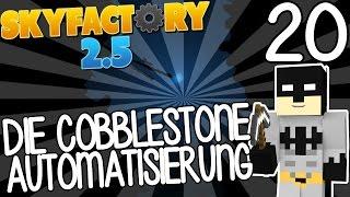 DIE COBBLESTONE AUTOMATISIERUNG  - MINECRAFT SKYFACTORY 2.5 #20   GAMERSTIME